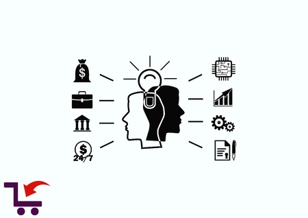 logica: Business strategy icon, business concept icon, vector illustration.