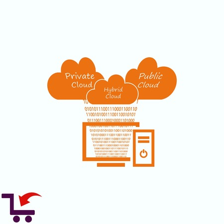 Cloud storage  icon  vector illustration . Technology icon