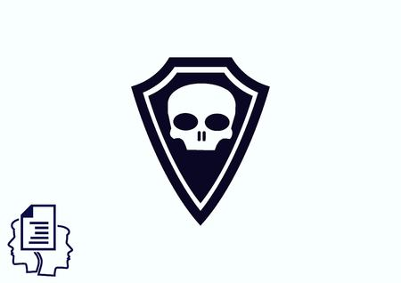 protection icon: Shield protection icon Illustration
