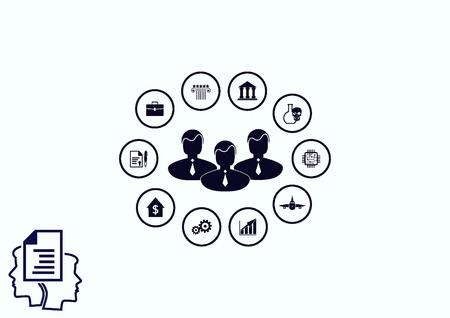 icono de la estrategia de negocio, concepto de negocio icono, ilustración vectorial.