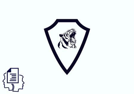 Shield protection icon Illustration