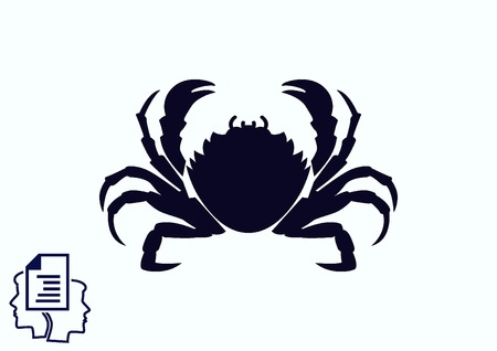 crustacea: Vector illustration of a crab.  graphics, seafood. Marine reptile. Illustration