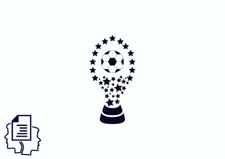 Soccer Cup, awarded the best team in football. Illustration