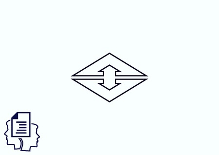 back link: Arrow indicates the direction icon