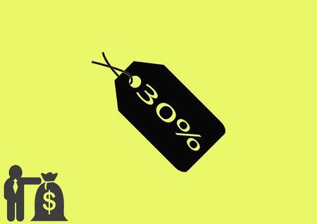 bargaining: SALE tag icon, vector illustration. Flat design style Illustration