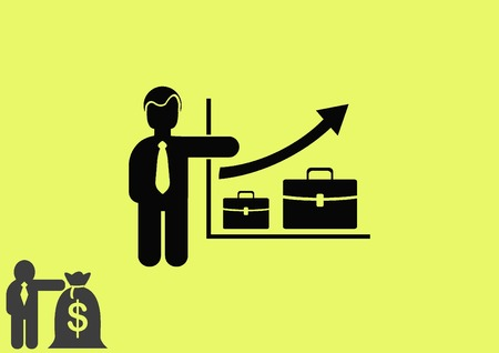 analytical: Business strategy icon, business concept icon, vector illustration.