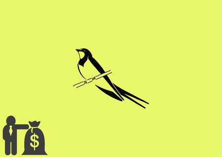 Bird icon. swallow swift vector illustration.