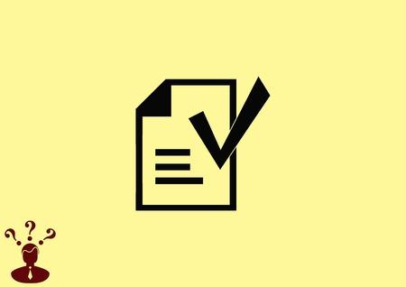 Check mark symbol,vector icon Illustration
