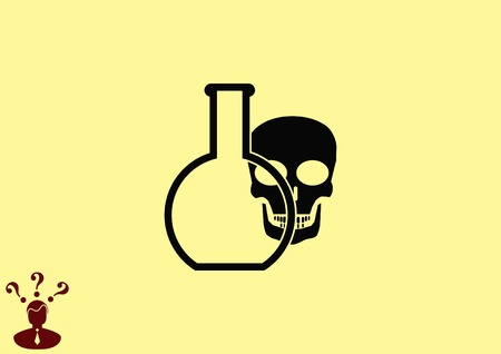 Laboratory equipment, chemistry, science icon Illustration