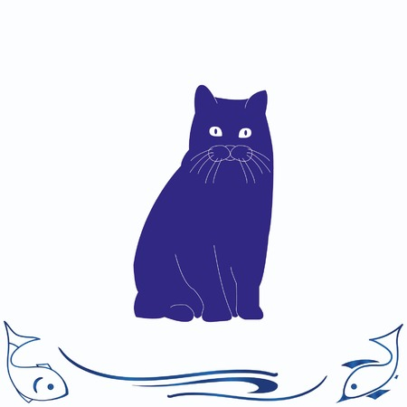 Cat icon Illustration