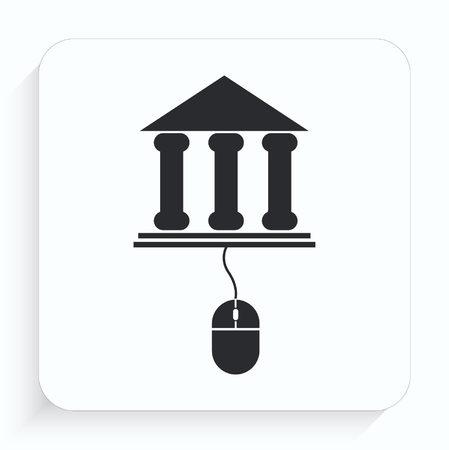 Internet banking icon.  イラスト・ベクター素材