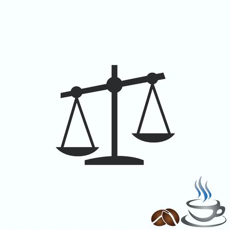 weigher: Scales icon Illustration