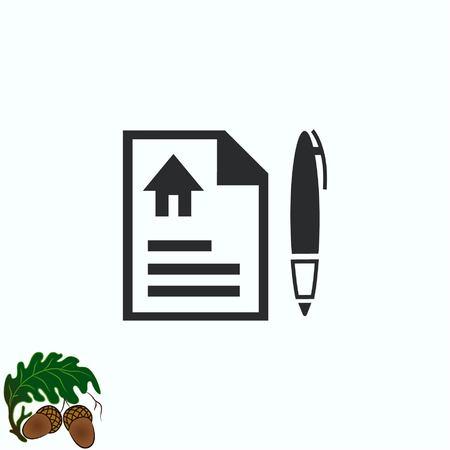 note pad: Document determining identity icon. Illustration