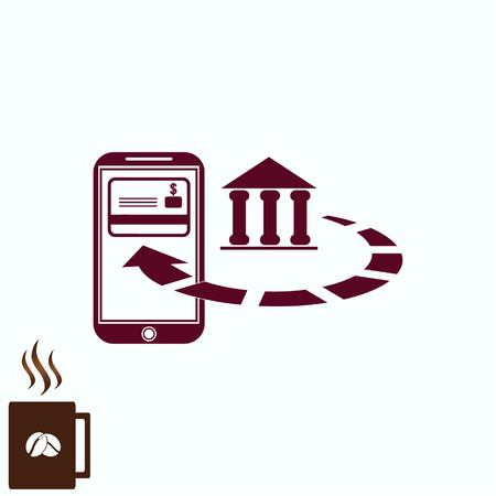 smart card: Internet banking icon. Illustration
