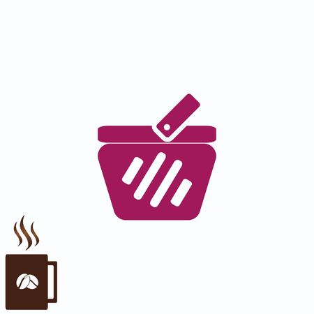 Caddie, cart icon Banque d'images - 75876187