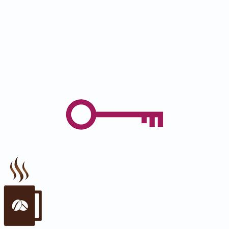 Simple concep of a pictograph of key icon