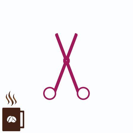 Simple concep of a scissors, cut icon
