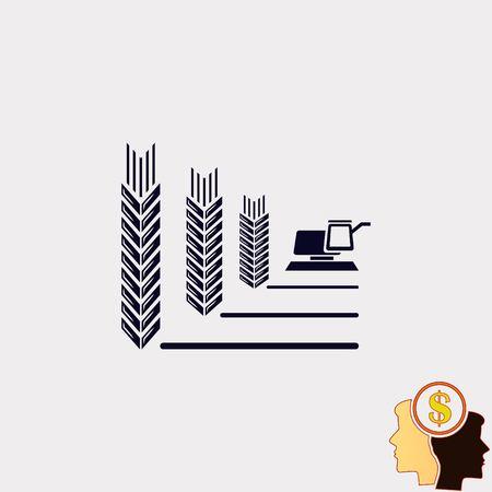 ikona Pszenica Ilustracje wektorowe