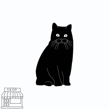 Cat icon Ilustrace