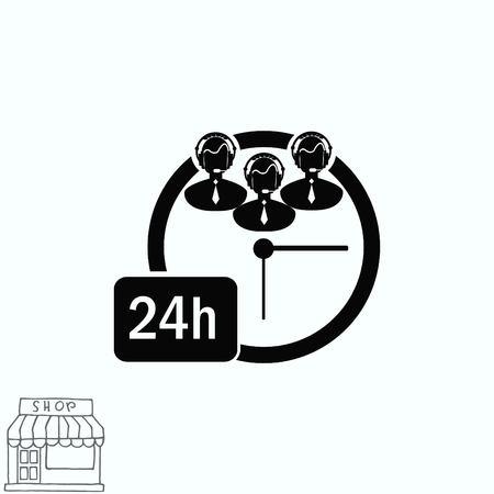 computer operator: Clock icon Illustration
