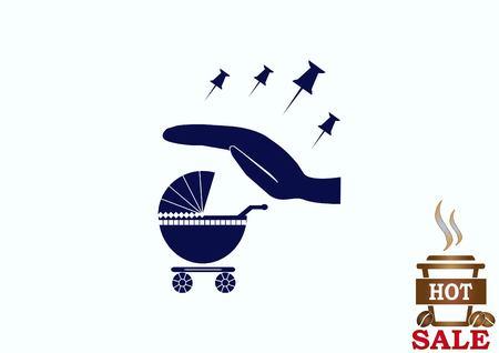 Kinderwagen-Symbol Standard-Bild - 78284906