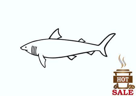 Shark icon. Vector illustration