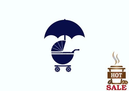 Kinderwagen-Symbol Standard-Bild - 78285791