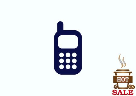 vintage telephone: Phone talk icon