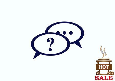 answer: faq icon, question icon. Illustration