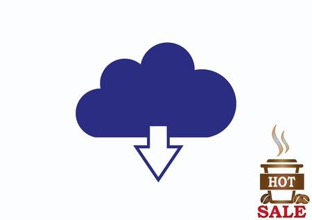 art processing: Cloud storage, icon  vector illustration Illustration