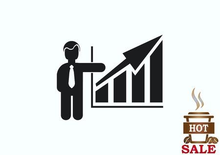 Bedrijfsstrategiepictogram, bedrijfsconceptenpictogram, vectorillustratie.