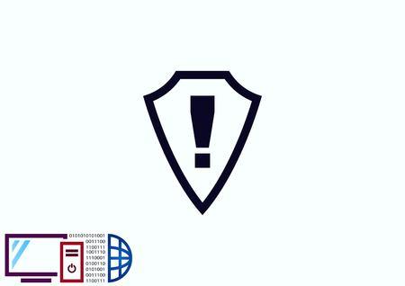 symbol. punctuation: Exclamation danger sign Illustration
