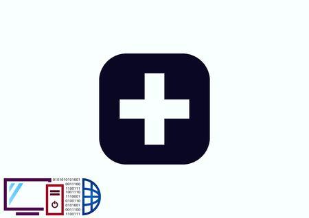 addition: Plus icon Illustration