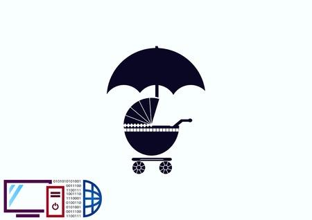 Kinderwagen-Symbol Standard-Bild - 78396780