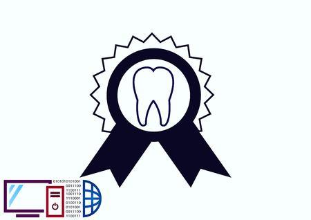 Dentistry, dental treatment  icon Illustration