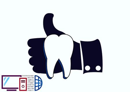 Dentistry, dental treatment icon