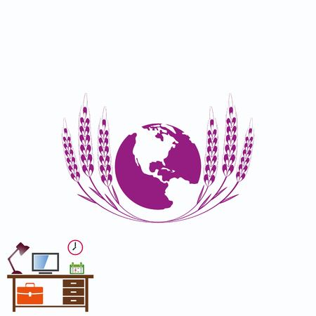 digestive: Wheat  icon Illustration