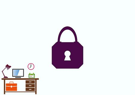 Lock, safety, security icon Stock Vector - 78357346