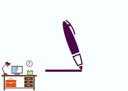 Pencil writing icon. Illustration