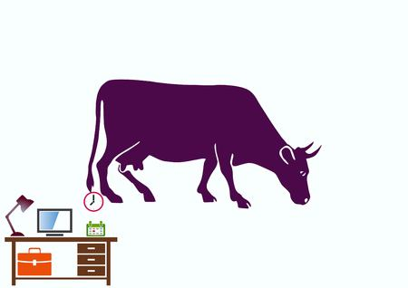 Cow icon. Vector illustration. Pets.