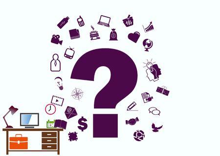 faq icon, question icon. Stock Illustratie