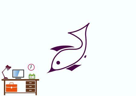 star fish: Fish icon. Vector illustration.