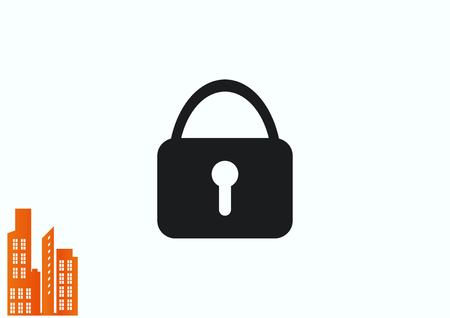Lock, safety, security icon Stock Vector - 78401943
