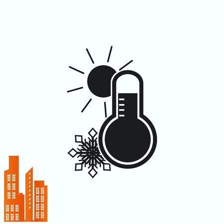 medical laboratory: Thermometer icon Illustration