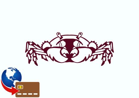 crabby: Vector illustration of a crab.   graphics, seafood. Marine reptile.
