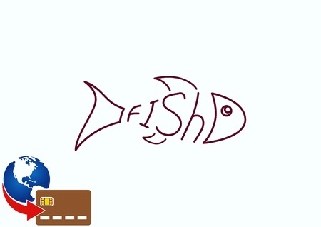 Fish icon. Vector illustration.
