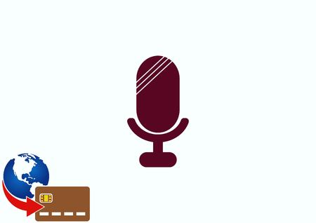 silver: old microphone icon