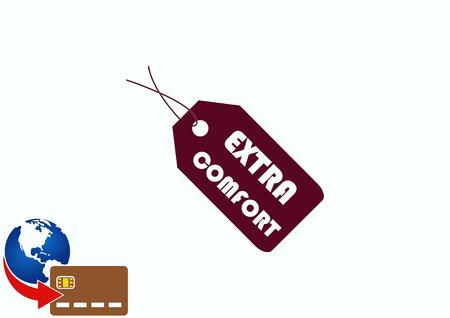 representative: SALE tag icon, vector illustration. Flat design style Illustration