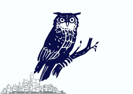 Bird icon. Owl vector illustration.