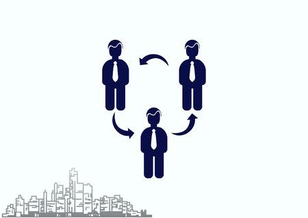 Bedrijfsstrategie pictogram, business concept pictogram, vector illustratie. Vector Illustratie